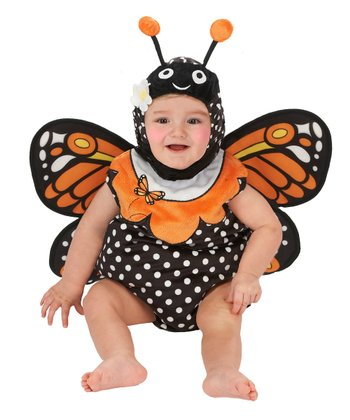 Black Monarch Butterfly Bubble Dress-Up Set - Infant