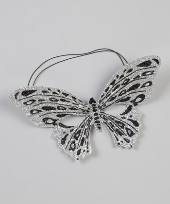 Silver & Black Butterfly Mask