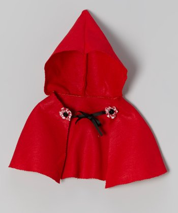 Red Hooded Cape - Infant, Toddler & Girls