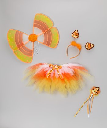 Candy Corn Tutu Set - Toddler & Girls
