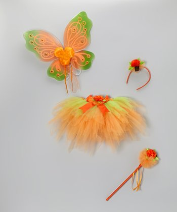 Orange & Green Pumpkin Tutu Set - Toddler & Girls