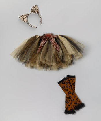 Brown Leopard Tutu Set - Toddler & Girls