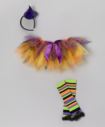 Purple Witch Tutu Set - Toddler & Girls