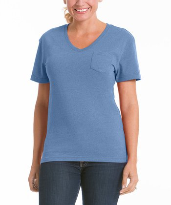 Chamblue V-Neck Pocket Tee - Women