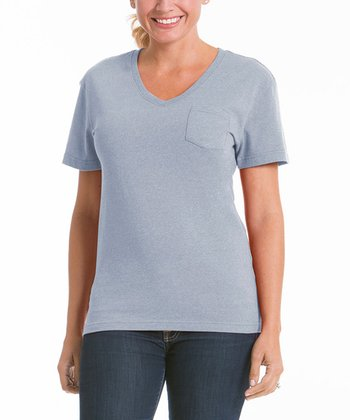 Ash V-Neck Pocket Tee - Women