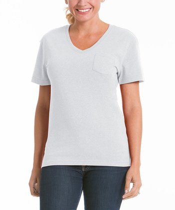 Cloud V-Neck Pocket Tee - Women