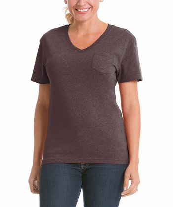 Earth V-Neck Pocket Tee - Women