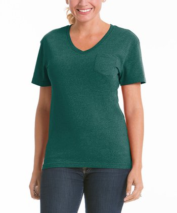 Moss Pocket V-Neck Tee - Women