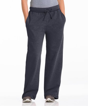Charcoal Three-Pocket Fleece Lounge Pants