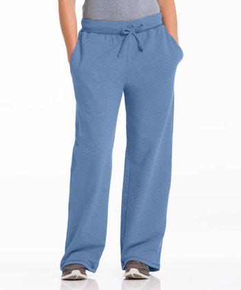 Repair the World® Chambray Blue Three-Pocket Fleece Lounge Pants - Women & Plus