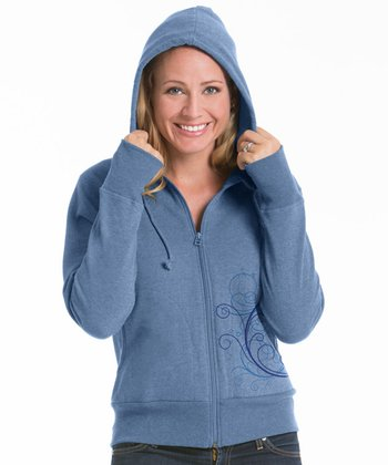 Chamblue Abound Fitted Fleece Zip-Up Hoodie