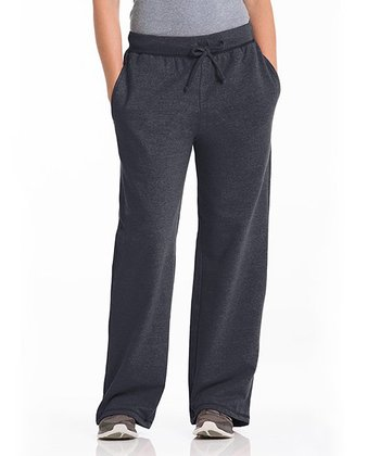 Charcoal Three-Pocket Lounge Pants - Women