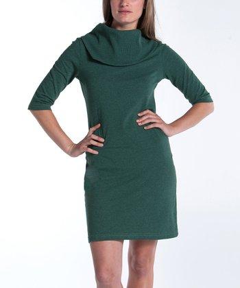 lur® Moss Lily Cowl Neck Dress - Women