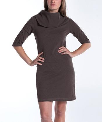 lur® Earth Lily Cowl Neck Dress - Women