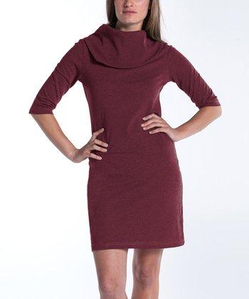 lur® Merlot Lily Cowl Neck Dress - Women