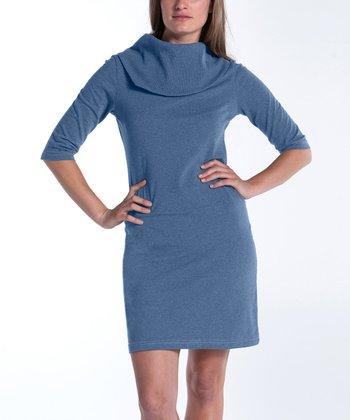 lur® Blue Lily Cowl Neck Dress - Women