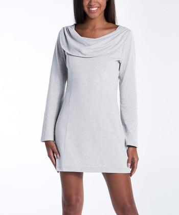 lur® Cloud Bellflower Cowl Neck Dress - Women