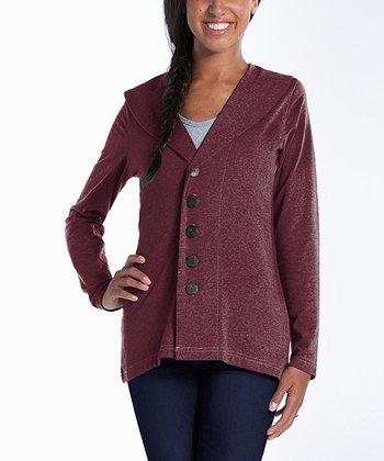 lur® Merlot Shawl Collar Cardigan - Women