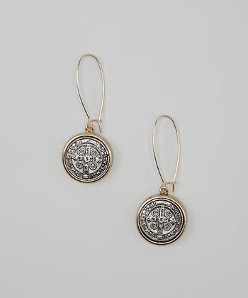 Gold & Silver Coin Drop Earrings