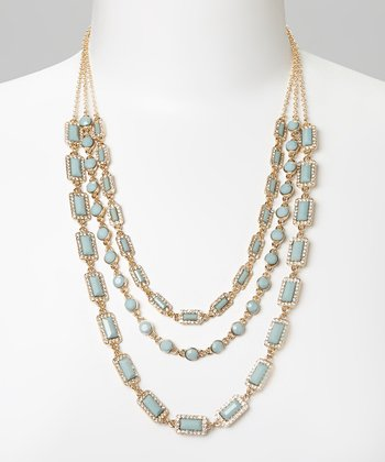 Mint & Gold Multi-Strand Necklace