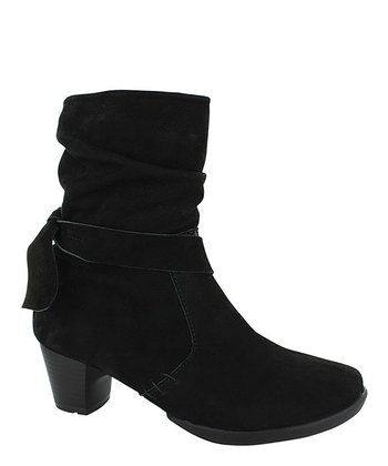 Black Marcato Scrunch Bootie - Women