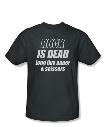 Charcoal 'Rock is Dead' Tee - Toddler & Boys