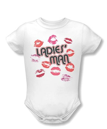 White 'Ladies' Man' Bodysuit - Infant