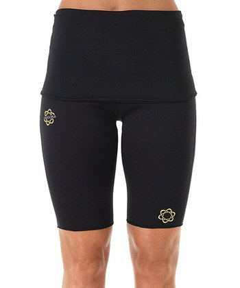 Black Fold-Over HotPants™ Shorts