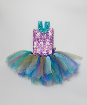 Lime & Purple Tutu & Purple Rosette Top - Infant & Toddler