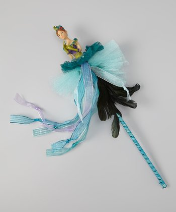 Blue Peacock Dancer Wand
