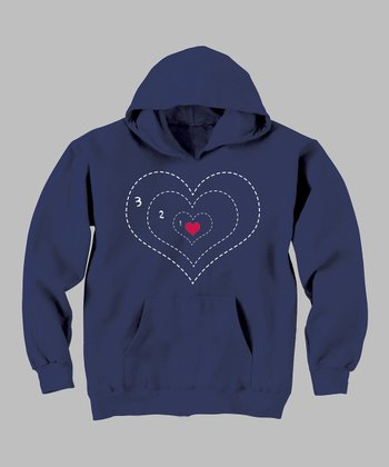 Navy Heart Grew Three Sizes Hoodie - Toddler & Kids
