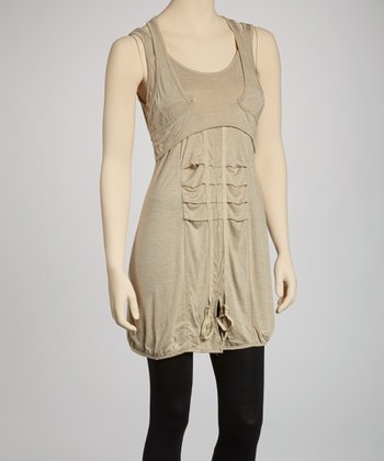 Khaki Racerback Dress