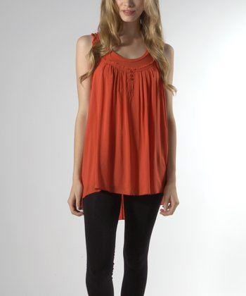 Rust Orange Racerback Tank