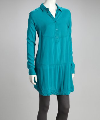 Turquoise Long-Sleeve Tunic