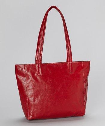 Latico Leather Red Shopper Tote