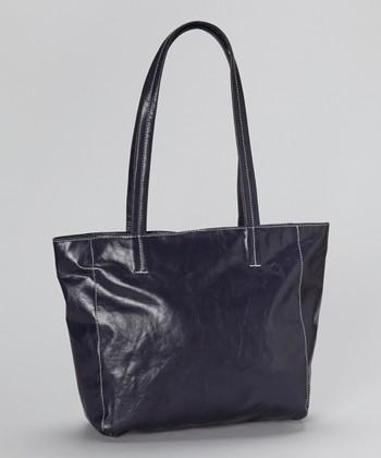 Latico Leather Purple Shopper Tote