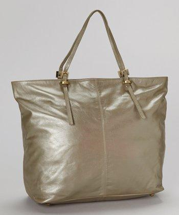 Latico Leather Metallic Gray Nadia Tote