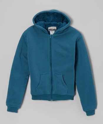 Teal Zip-Up Hoodie - Boys