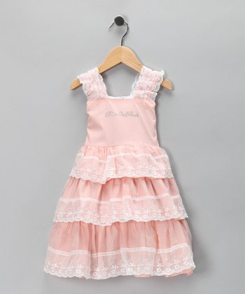 Pink Lace Ruffle Dress - Toddler & Girls