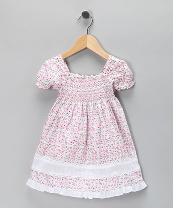 Di Vani Pink Floral Lace Dress - Toddler & Girls