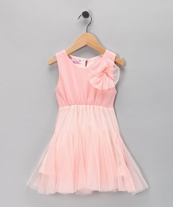 Pink Chiffon Rosette Dress - Toddler