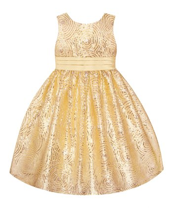 Yellow Sequin  Dress - Toddler & Girls