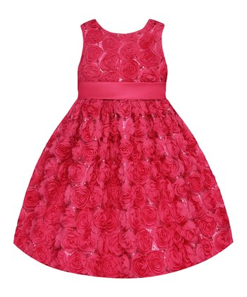 Watermelon Rosette  Dress - Toddler & Girls' Plus