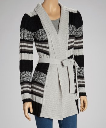 Gray & Black Stripe Duster