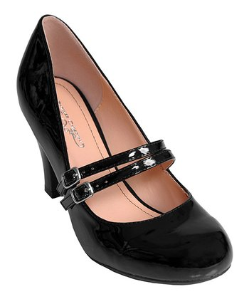 Black Patent Wendy Mary Jane Pump