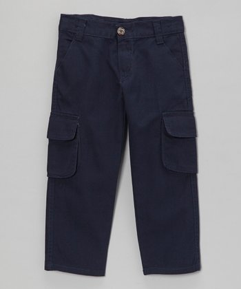 Navy Cargo Pants - Toddler & Boys