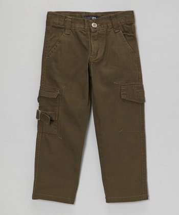 Olive Buckle Cargo Pants - Toddler & Boys