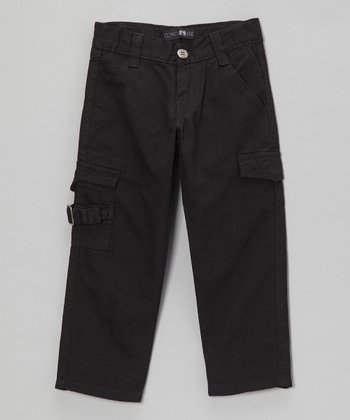 Black Buckle Cargo Pants - Toddler & Boys