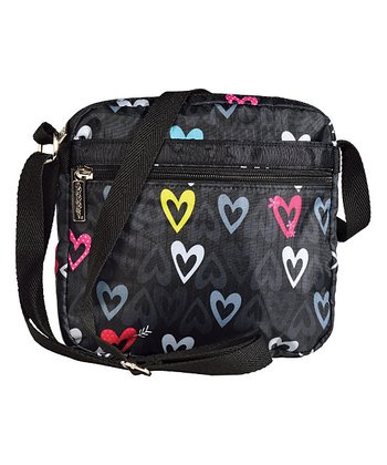 Black Hearts Crossbody Bag