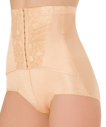 Nude Hook & Eye High-Waisted Shaper Briefs - Women & Plus